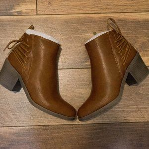 Brand New Brown Faux Leather Booties
